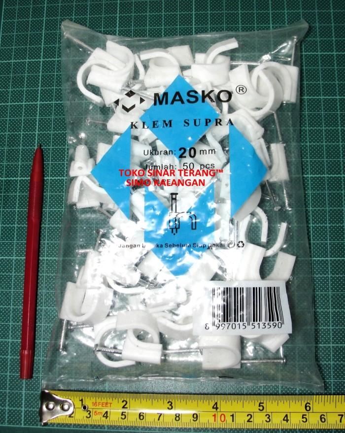 harga Klem kabel no 20 mm masko + paku beton/ kabel clip pipa listrik 20mm Tokopedia.com