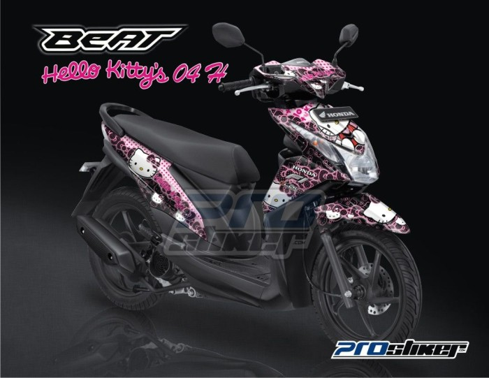 Jual Jual Striping Honda Beat Fi Motif Gambar Kartun Hello Kitty