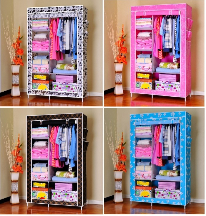... Lemari Vintage Rak Baju Pakaian Kain Source · Multifunction Wardrobe Cloth Rack with cover Rak baju
