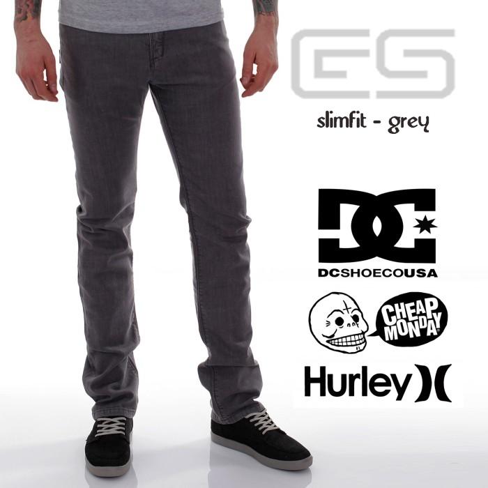 Foto Produk Celana Jeans Pria Slimfit - Abu - DC - Cheap monday - PSD - Abu -Abu Tua, 30 dari Grosir Bandung