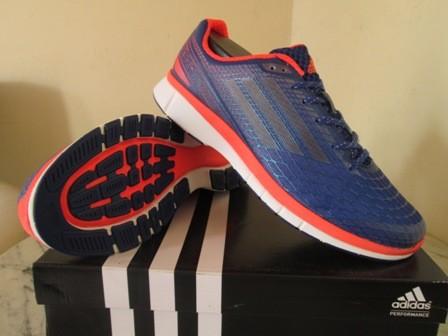 reputable site 4c3c3 52f8a Sepatu running adidas adizero feather 3 M biru orange original murah
