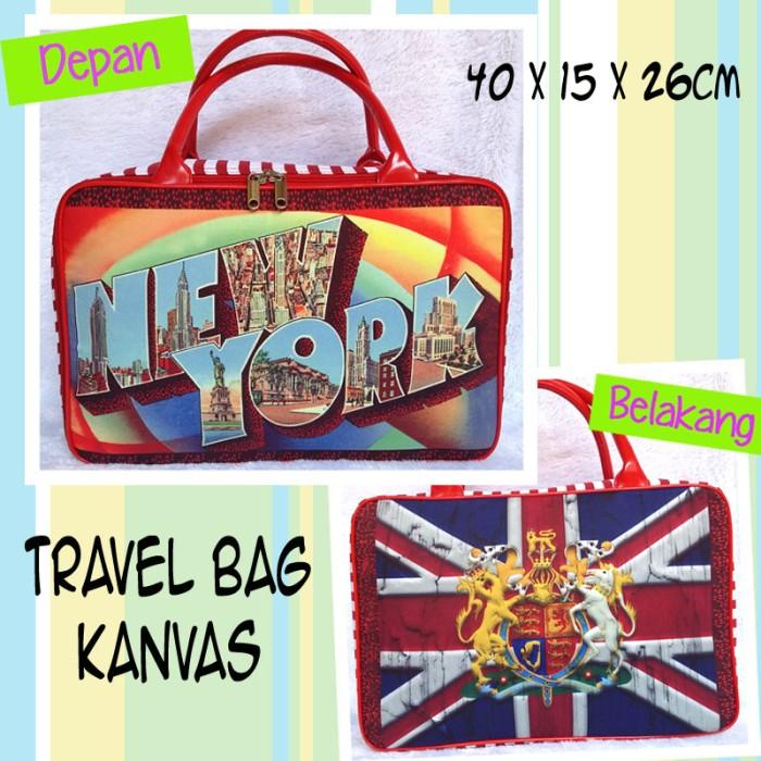Tas Travel Bag Kanvas London New York