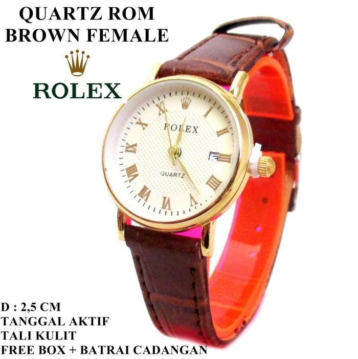 harga Jam tangan kulit rolex diamond rom brown female (tanggal aktif) Tokopedia.com