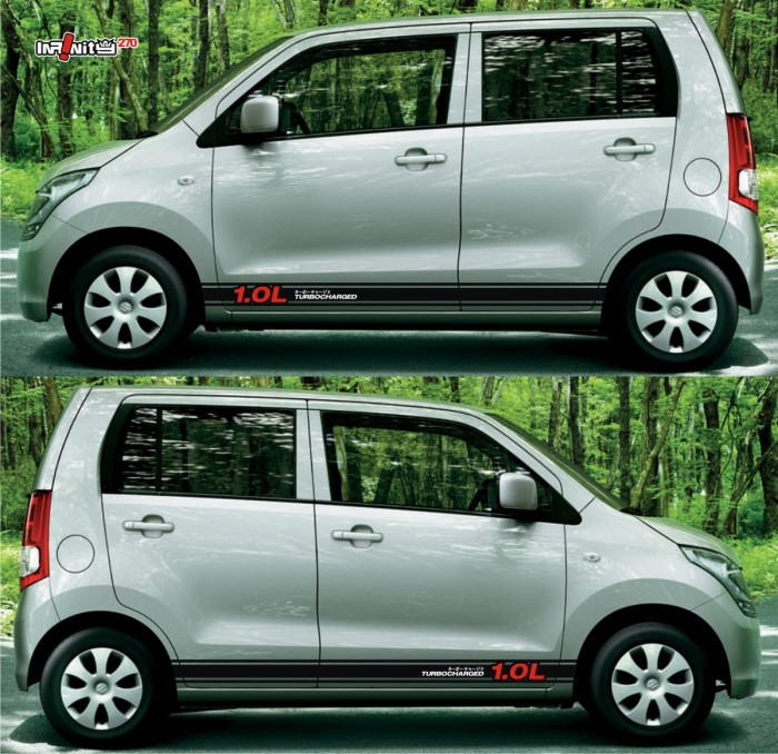 Ssl018 suzuki karimun wagon r sticker body samping lcgc 1 0 dohc