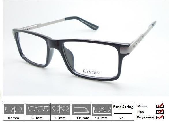 Jual frame kacamata cartier black cek harga di PriceArea.com 6f3e4409e2