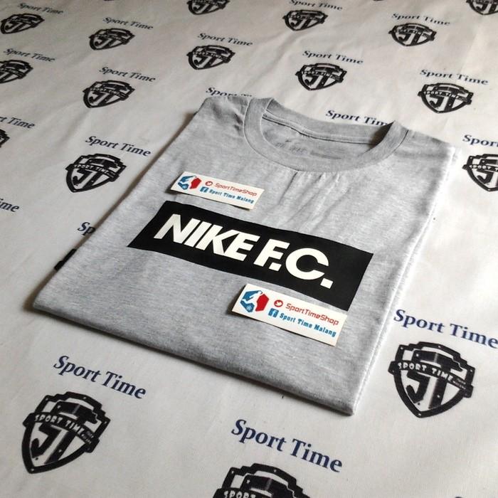 harga Kaos nike fc abu hitam | nike fc block top - misty grey/ black Tokopedia.com