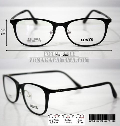 Jual Frame Kacamata Levis TR2059 (Premium Quality) Black - Zona ... d50942b1a8