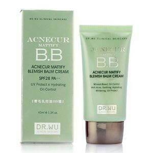 Dr. Wu Acnecur Mattify BB Cream u/ wajah kombinasi-berminyak