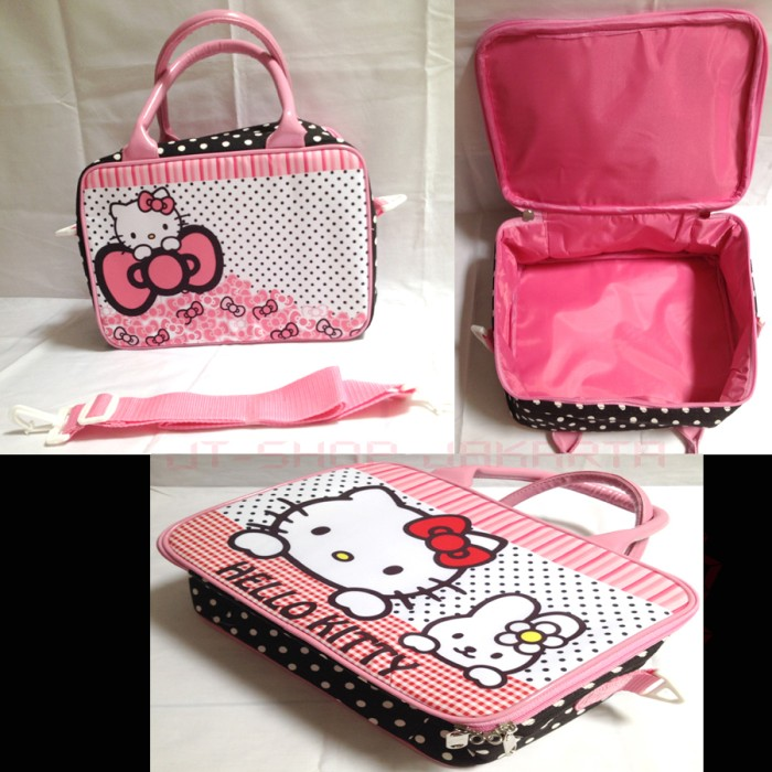Tas Travel / Koper Anak Kanvas Kecil Hello Kitty Pita