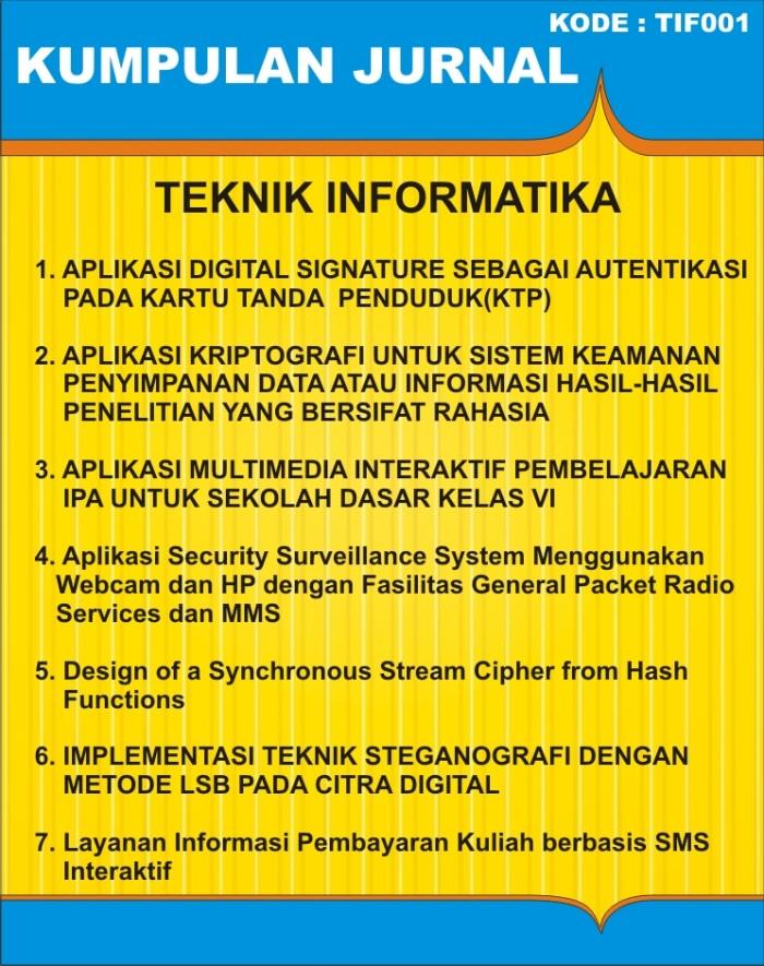 Jual Jurnal Teknik Informatika Tif001 Kota Pekanbaru
