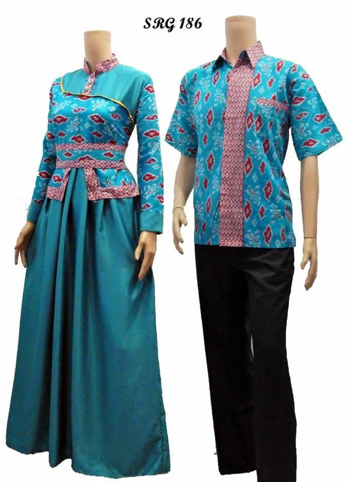 Jual Batik Sarimbit Gamis Batik Gamis Pasangan Model