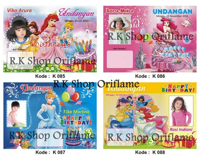 Jual Kartu Undangan Ulang Tahun Anak Kode 085 096 Dki Jakarta