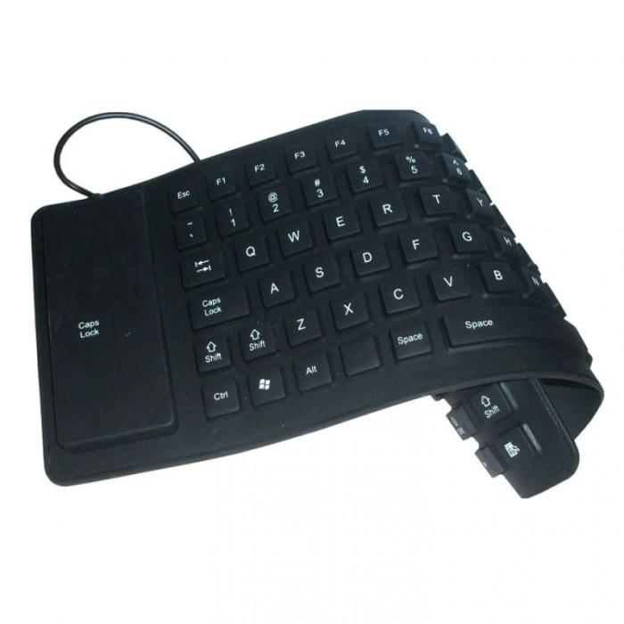 FAK Keyboard Flexible Mini - Usb - Hitam