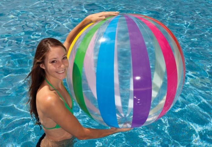 harga Bola pantai merk intex ukuran besar 42in untuk bermain di pantaikolam Tokopedia.com