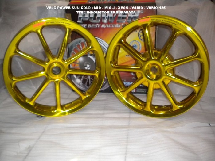 Jual Velg Power Sun Gold Vario 110 Beat Mio Xeon Indomotor