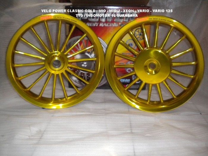 Jual Velg Power Classic Gold Vario 125 150 Indomotor 16 Tokopedia