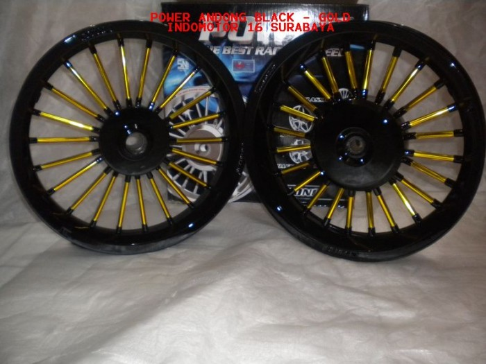Jual Velg Power Andong Black Gold Vario 125 150 Indomotor 16