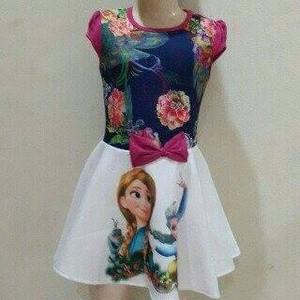 Jual Dress Anak Frozen Gaun Pesta Putri Princess Elsa Ukuran Besar