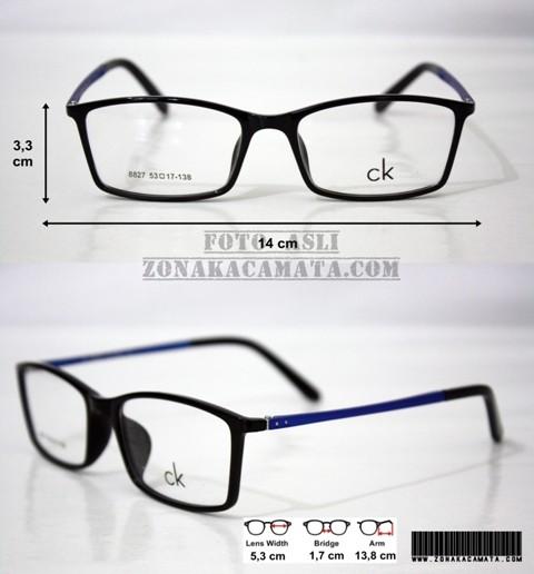 Jual Frame Kacamata Calvin Klein 8827 (Premium Quality) Black Blue ... 522c8bc671