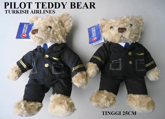 harga Boneka pilot teddy bear - turkish airlines Tokopedia.com