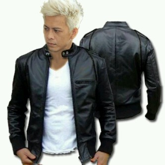 Jaket Murah Semi Kulit Ariel Hitam Full Black - Daftar Harga Produk ... 32fde700c9