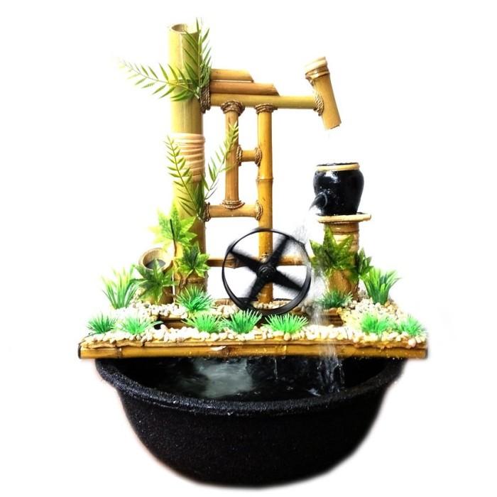 harga Kerajinan miniatur air mancur bambu cendani - jtp1 kincir 32x15x30cm Tokopedia.com