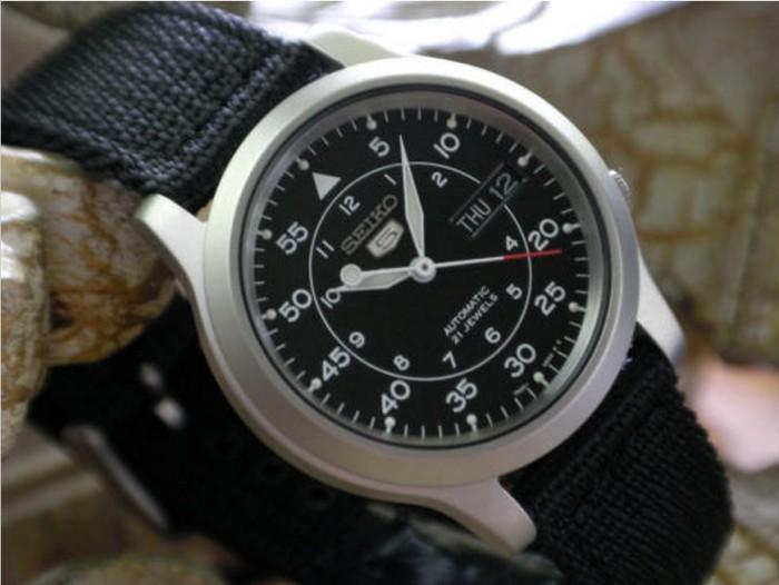 harga Jam tangan seiko 5 snk809k2 black military strap | automatic snk809 k2 Tokopedia.com