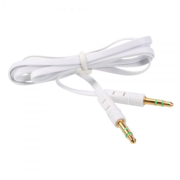 Lexcron kabel 3.5 audio small flat 1 meter - putih