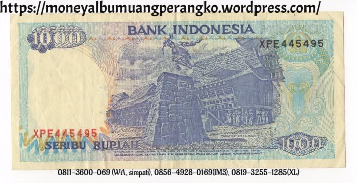 Uang Kertas 1000 Rupiah 1992 Mahar
