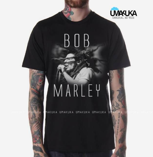harga Bob marley kaos 3d umakuka tees Tokopedia.com
