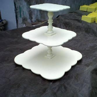 Jual Elegant Cupcake Stand Square