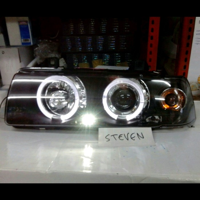 harga Bmw 3 series e36 1990-2000 headlight projector with angle eyes black Tokopedia.com