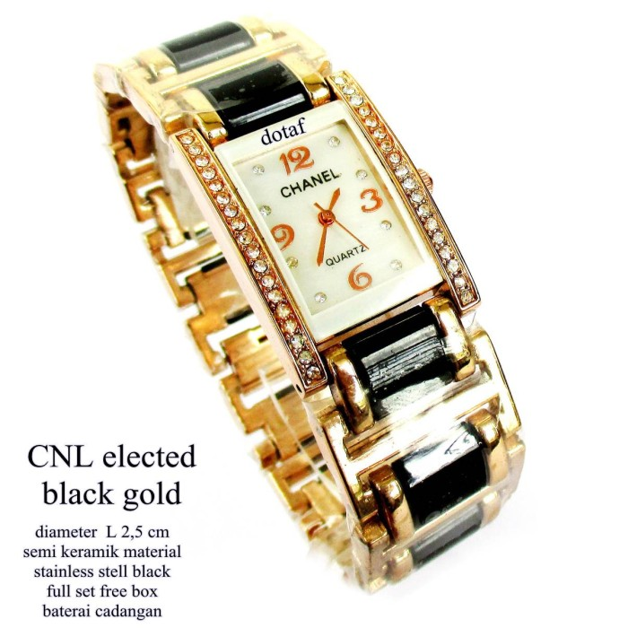 harga Jam tangan chanel elected black gold Tokopedia.com