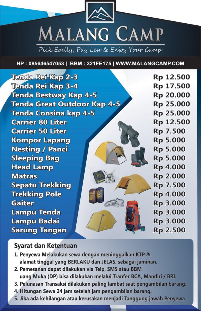 Jual Renta Tenda Malang Kota Malang Malang Camp Tokopedia