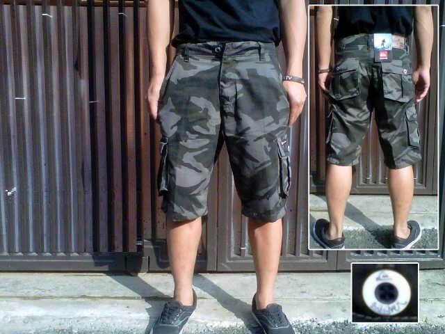 Celana cargo loreng celana pendek army pria celana gunung carggo