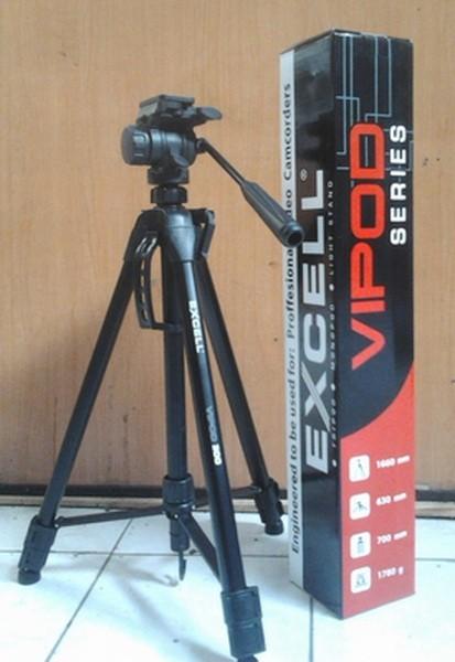 harga Tripod excell vipod 300 (video tripod) fluid head Tokopedia.com