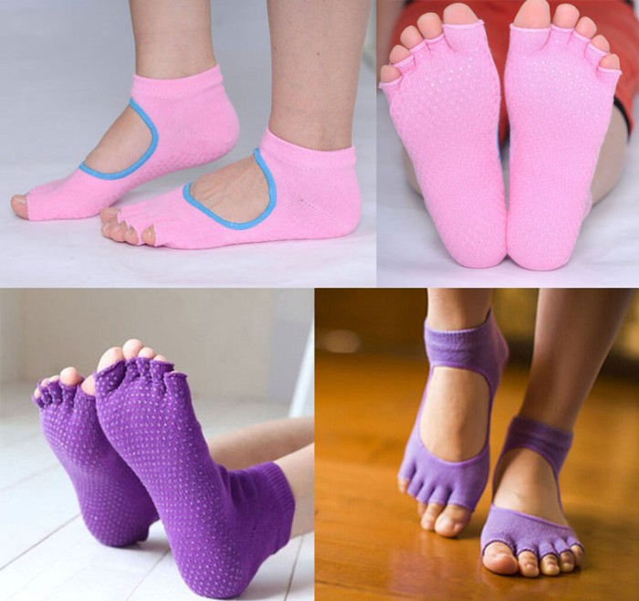 harga Kaus kaki yoga - cotton women yoga socks non slip Tokopedia.com