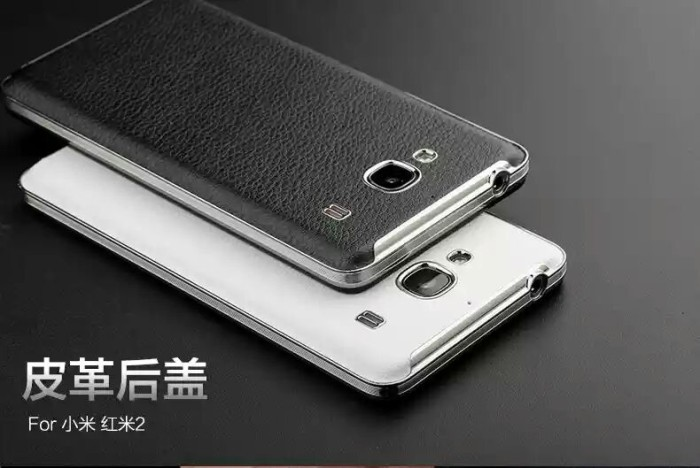 Back Case / Back Cover Leather Kulit Xiaomi Redmi 2 / 2S