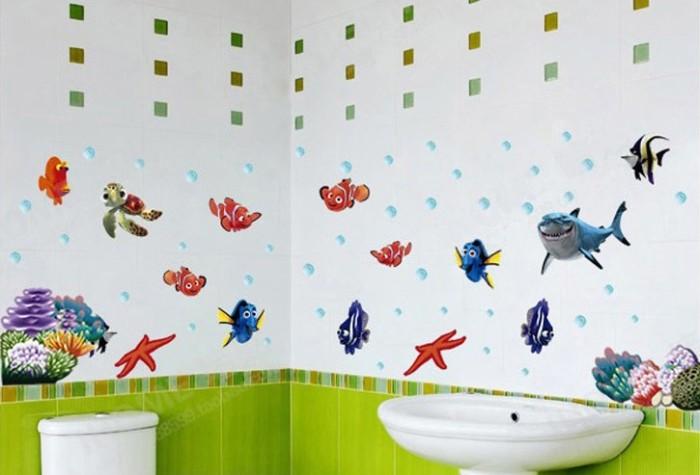jual dinding stiker / wall sticker kamar mandi / secrets of ocean
