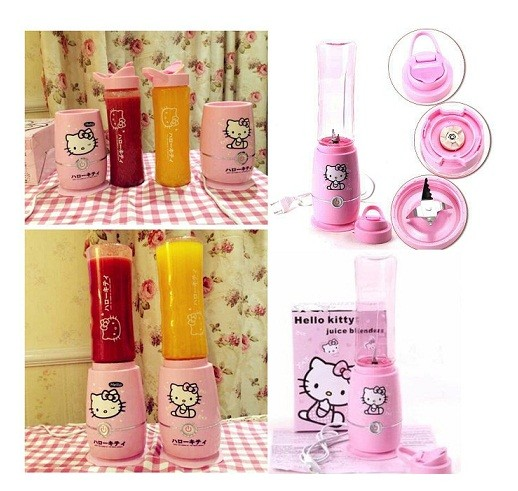Blender juicer shake take 2 cup gelas tabung hello kitty hk sporty go