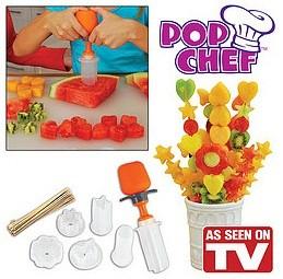 Pop chef alat cetakan kue buah puding coklat bintang love tusuk lidi