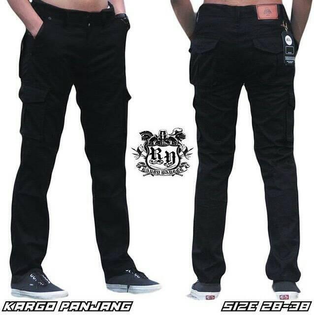harga Celana cargo panjang black / celana pdl hitam polos / celana gunung Tokopedia.com