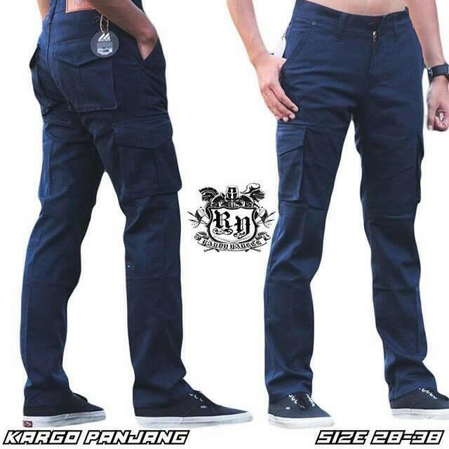 harga Celana cargo panjang birdong / celana pdl biru dongker / celana gunung Tokopedia.com