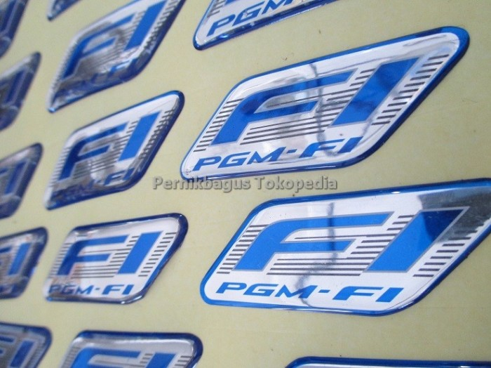 Foto Produk Stiker Emblem PGM-Fi FI Logo Dome Original 100% HGP Honda Injeksi dari Pernik Bagus