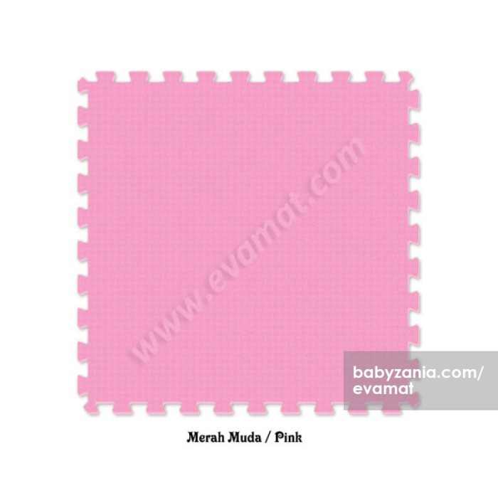 Evamats puzzle polos 60 x 60 - pink