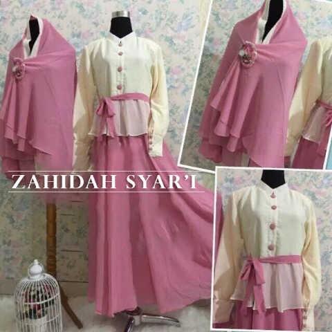 Jual Zahidah Syar I Set Love Hijab Store Tokopedia