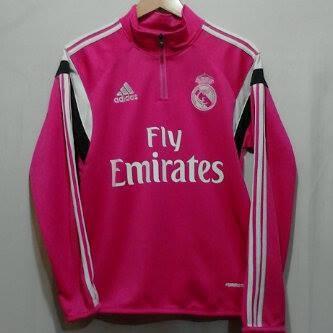 harga Sweater half zipper training kit real madrid pink 14/15 Tokopedia.com