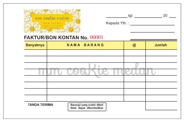 Jual Cetak Nota Ncr 3 Ply Murah Kota Medan Sprint Shop Tokopedia