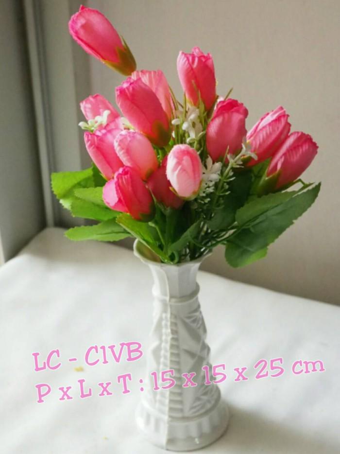 Jual Bunga sintetis type Victoria pink - Lucca Collection  7d9cb0208d