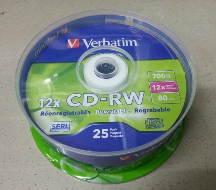 harga Cd-rw 12x cb25 verbatim Tokopedia.com
